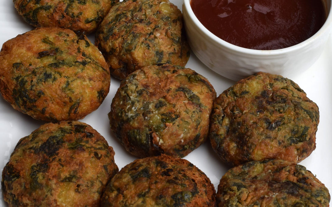 Spinach Potato Cutlets or Fritters