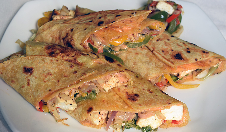 Paneer And Pepper Wrap