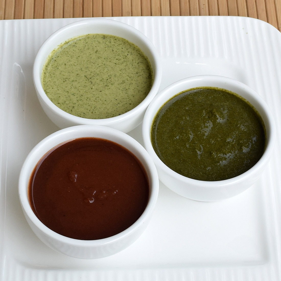 Three basic North Indian chutneys | step by step recipe with pictures