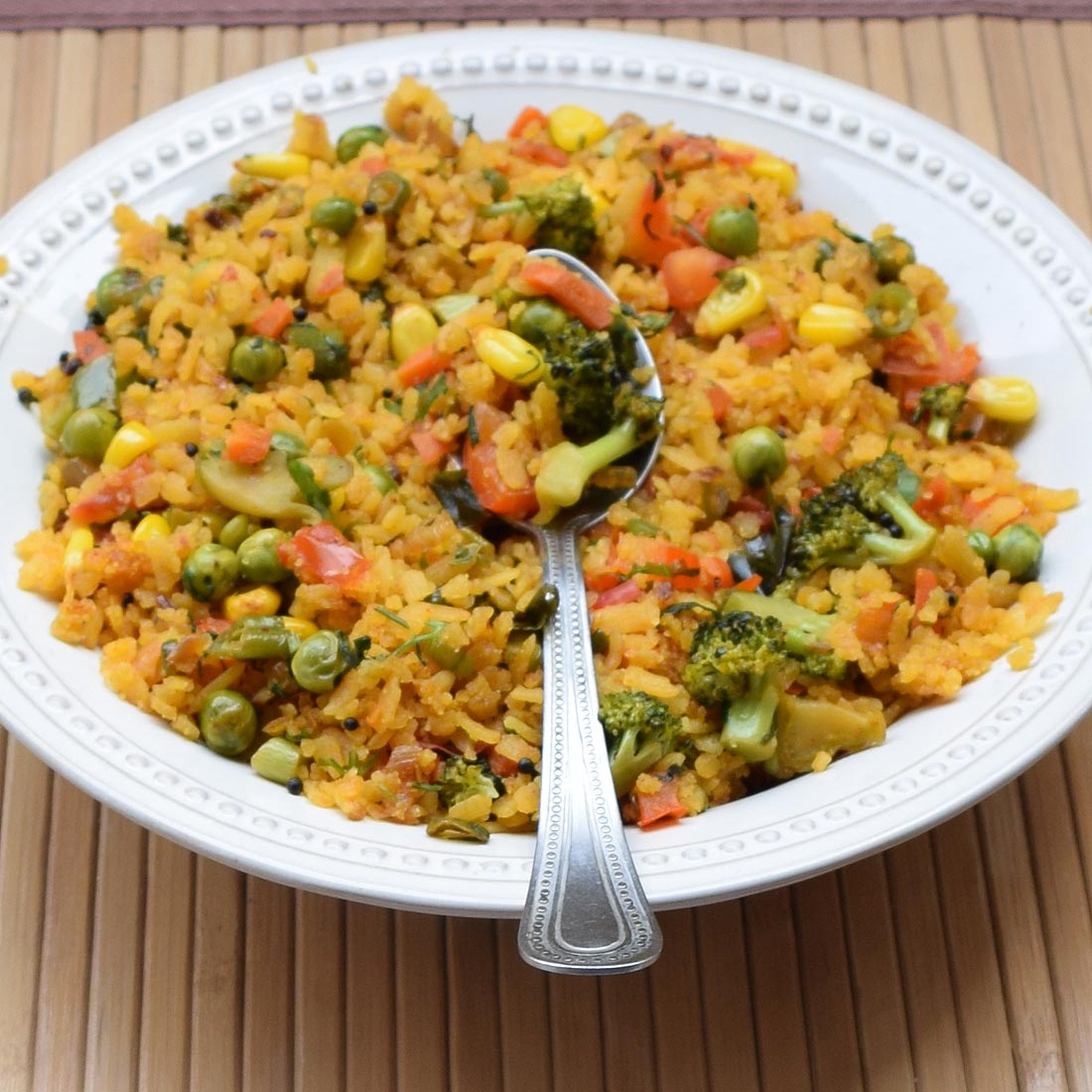 Healthy Fusion Poha (Flattened Rice)