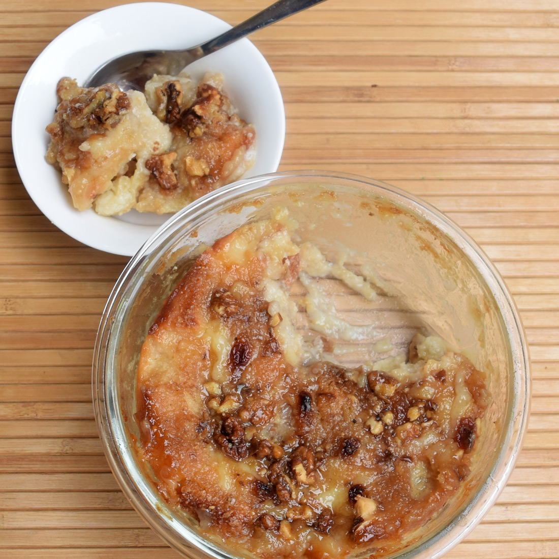 Egg-less Bread Pudding