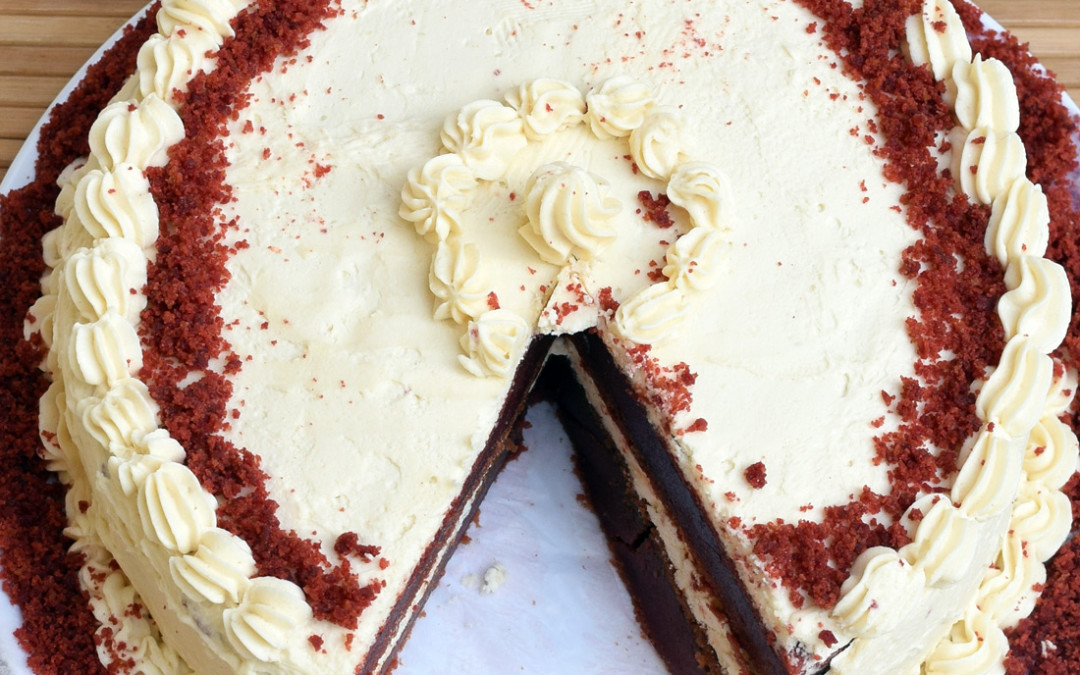 Egg less Red Velvet Cake