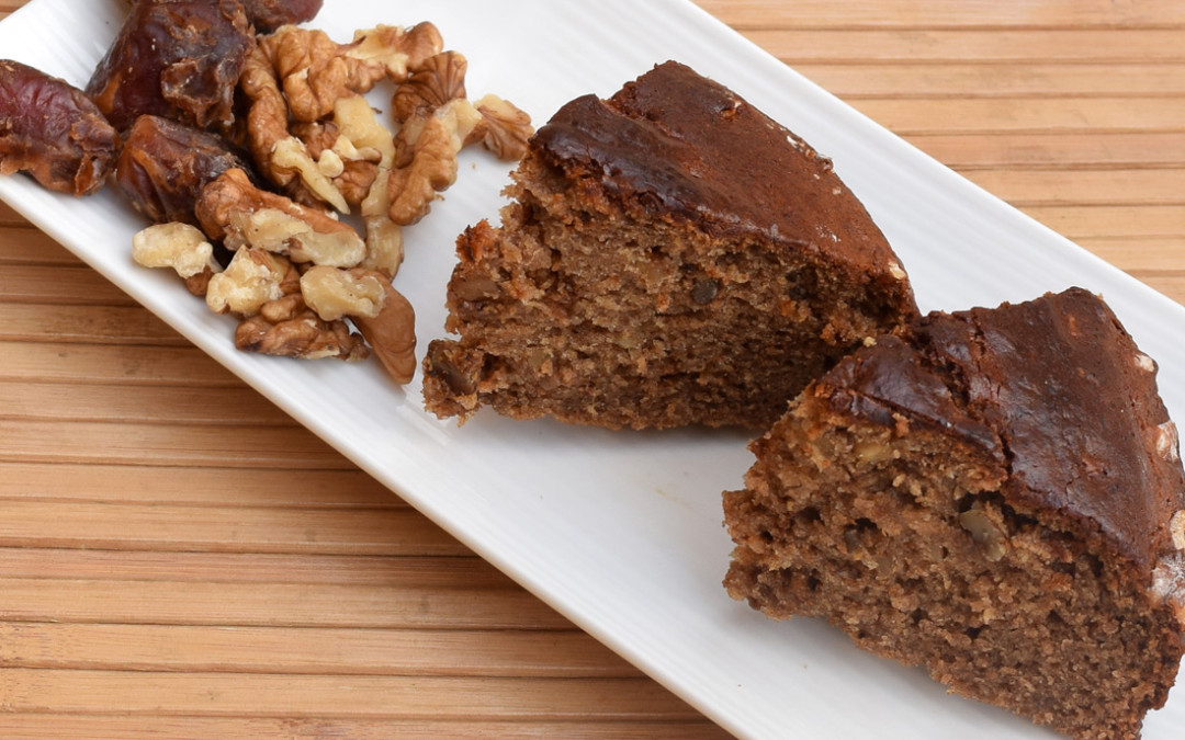 Eggless Date and Walnut Cake