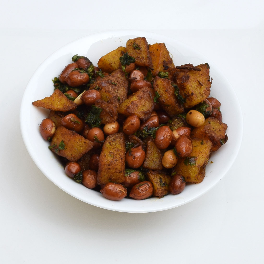 potatoes and peanuts sabzi for fasting