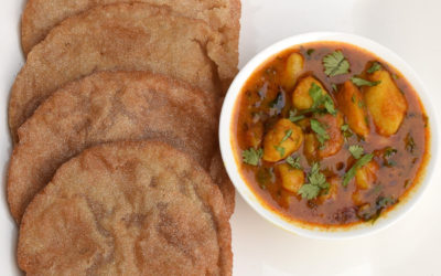 Rajgira Atta ki Puri and Aloo Rasedar recipe for fasting